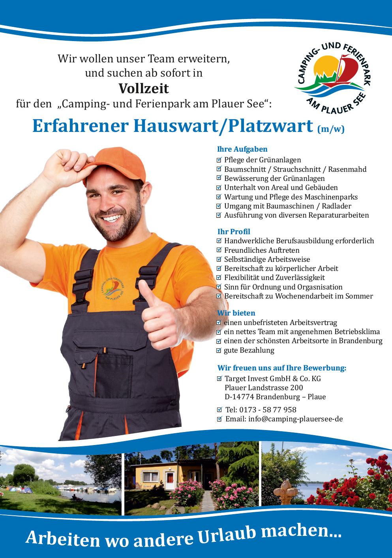 Hauswart/Platzwart (m/w)